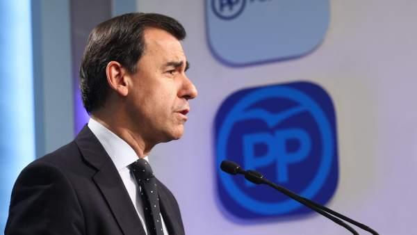 Rueda de prensa de Fernando Martínez-Maillo en la sede del PP