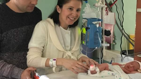 La primer bebé de Aragón de 2018 nace en el Clínico de Zaragoza