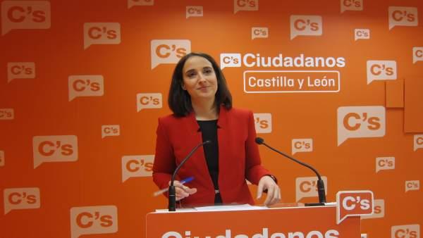 La coordinadora de Ciudadanos en Castilla y León, Pilar Vicente
