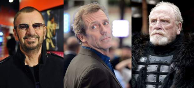 Ringo Starr, Hugh Laurie and James Cosmo