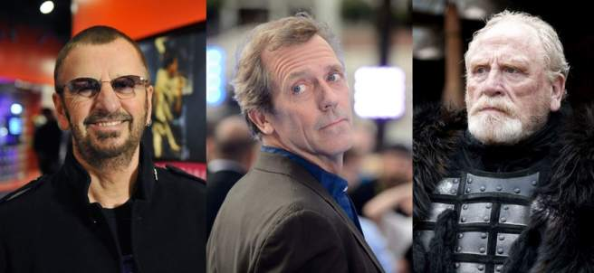 Ringo Starr, Hugh Laurie y James Cosmo