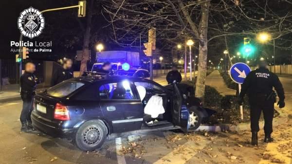 Accidente de tráfico en Palma