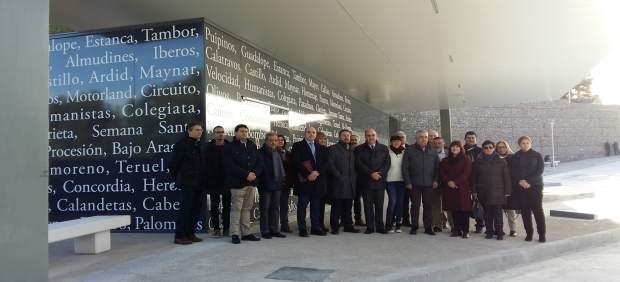Soro ha visitado este martes la nueva estación de autobuses de Alcañiz