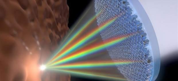Primera lente única que enfoca a un tiempo toda la luz visible