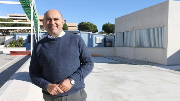 Edil de Educación, Hipólito Zapico, en CEIP de Mijas