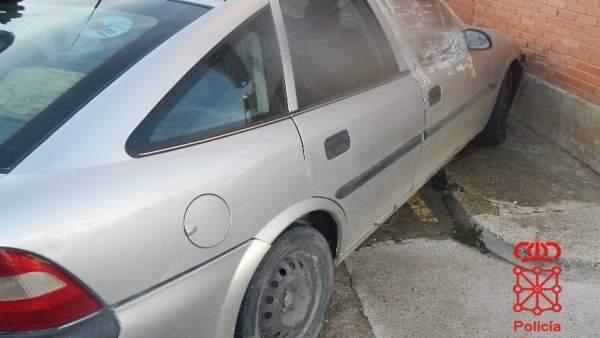 Coche accidentado en Mendavia