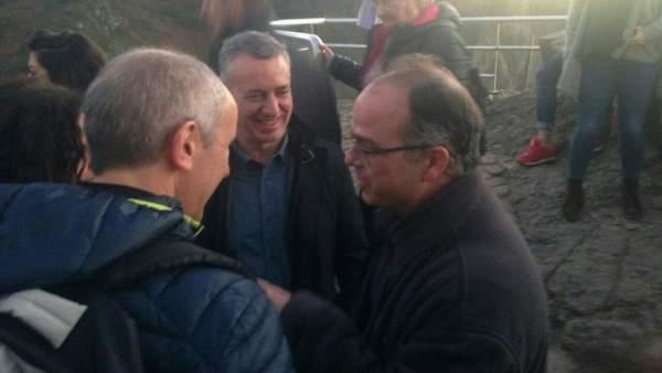 Iñigo Urkullu, Josu Erkoreka y Jordi Turull