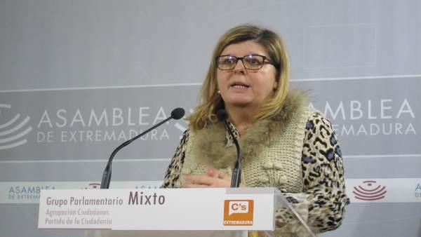 Portavoz del Grupo Parlamentario Ciudadanos, María Victoria Domínguez