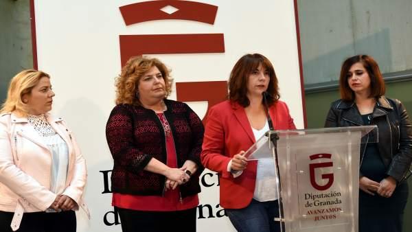 Las diputadas provinciales López, Gómez Abad, De la Rosa y Justo