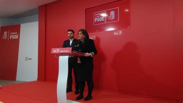 Sánchez junto a Fagúndez en rueda de prensa en Zamora