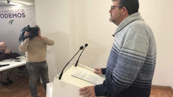 El secretario de Organización de Podemos Andalucía, Nacho Molina