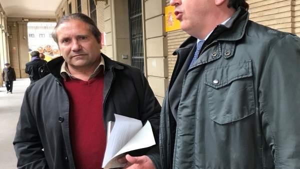 José María Penella de UAGA y el abogado Pablo Martínez