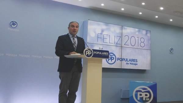 El presidente del PP de Málaga, Elías Bendodo.