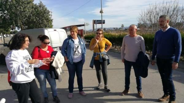Imagen de la visita de Urralburu a Alcantarilla