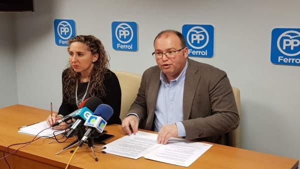 Rueda de prensa de Miguel Tellado en Ferrol