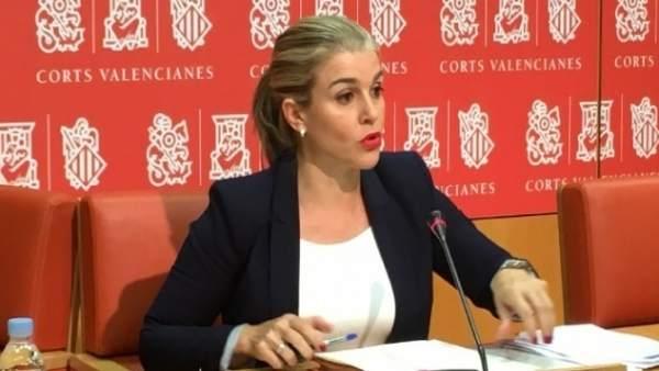 Eva Ortiz en rueda de prensa