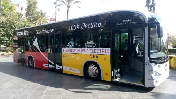 Bus eléctrico de la red TIB