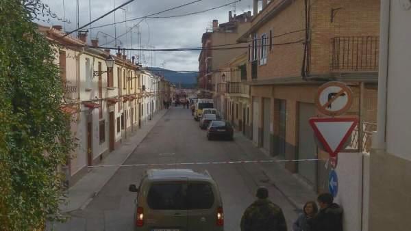 Calle donde reside la víctima de Requena