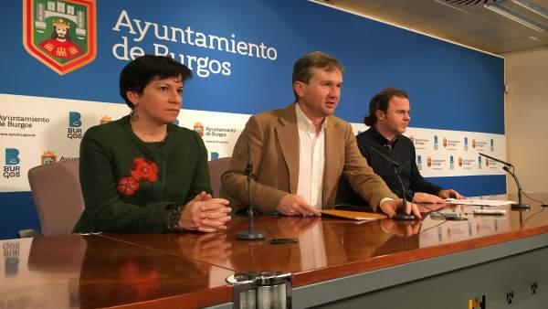 María José Ruiz, Javier Lacalle y Enrique García.