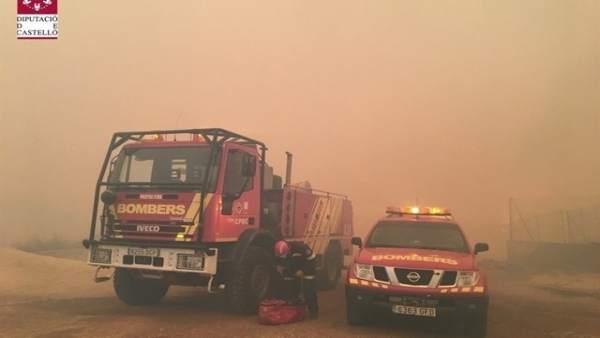 Imagen del incendio de Culla (Castellón)