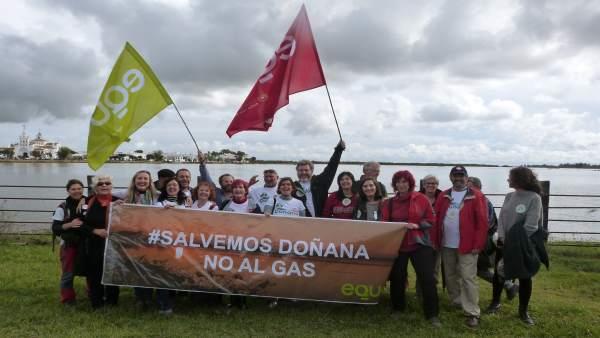 EQUO en la manifestación contra el proyecto gasista en Doñana