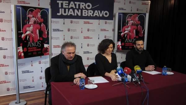 Segovia.- Marco Antonio Castro,  Sara Dueñas y Guillermo Berdugo