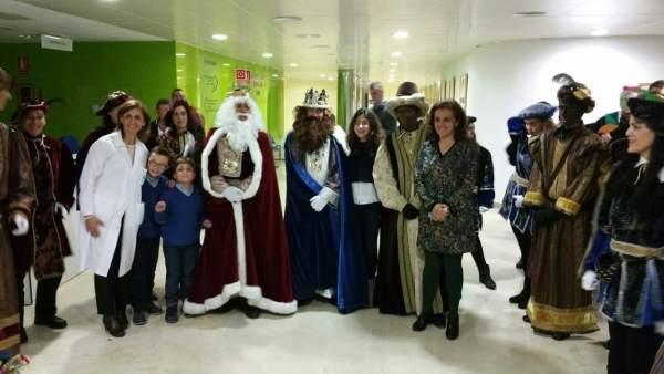 Imagen de archivo de la visita de los Reyes Magos al Hospital