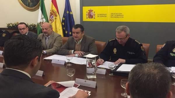 Reunión de coordinación de seguridad para el derbi Sevilla-Betis