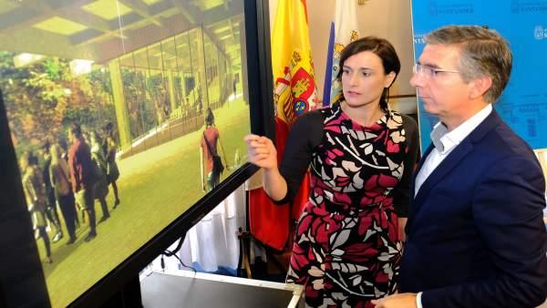 Gema Igual y César Díaz presentan centro cívico Castilla-Hermida