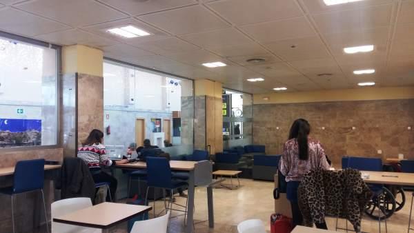 Zona de trabajo habilitada en el aeropuerto Federico García Lorca