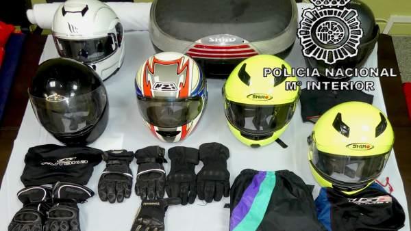 Burgos.- Objetos incautados por la Policía Nacional
