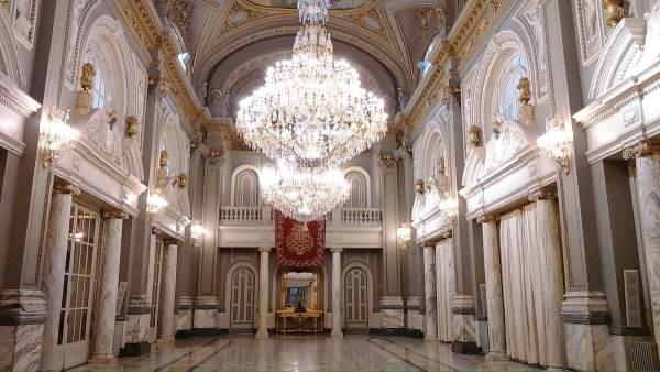Imagen del Salón de Cristal del Ayuntamiento de València