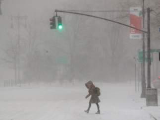 Fuerte nevada en Nueva York