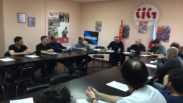 Rueda de prensa de la CIG sobre sentencia de parques comarcales de bomberos