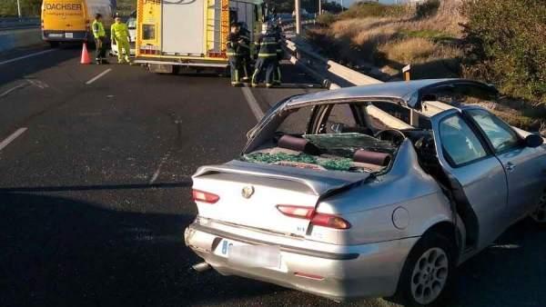 Accidente en Algeciras