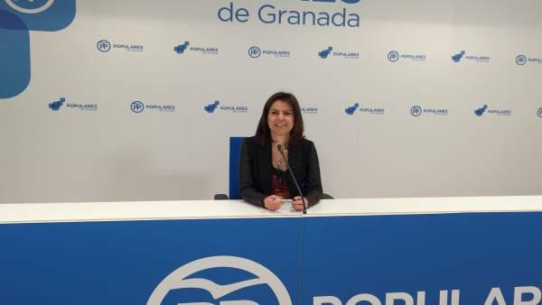 Ana Vanessa García, parlamentaria del PP de Granada