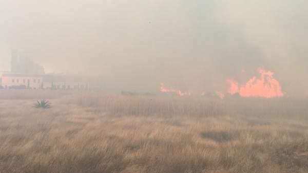 Incendio en Sagunt