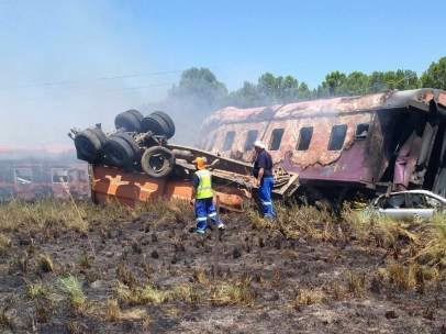 Accidente de tren en Sudáfrica
