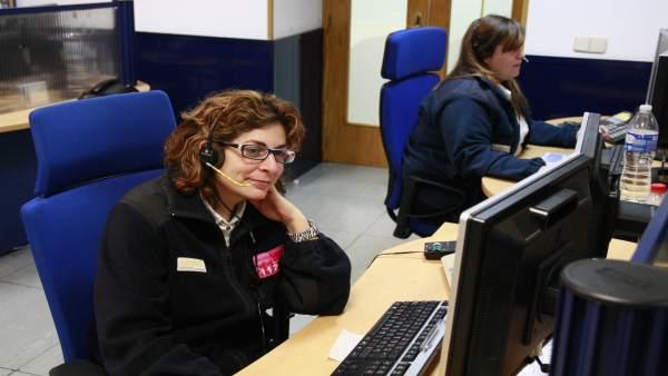 Oficina, Gente Trabajando, 112, Tecnología, Operadora, Emergencias sanitarias