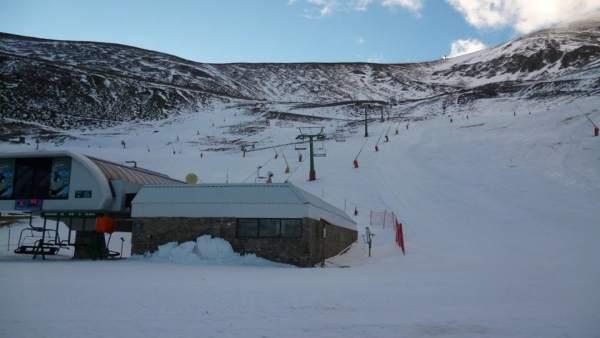 Valdezcaray con poca nieve