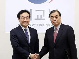 El jefe negociador de China para el programa nuclear norcoreano llega a Seúl