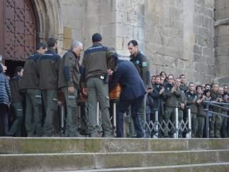 Entierro de los agentes rurales asesinados por un cazador en Aspa (Lleida)
