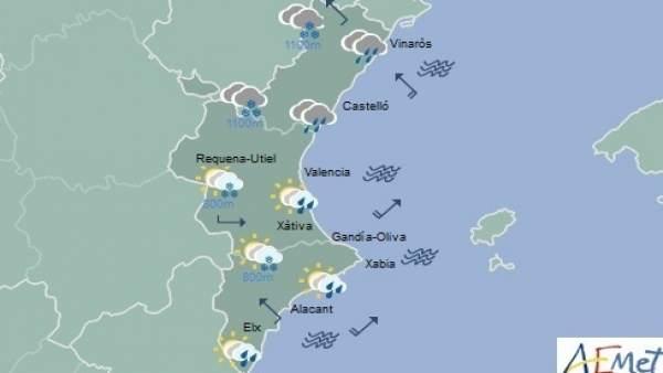 Precipitaciones generalizadas en toda la región