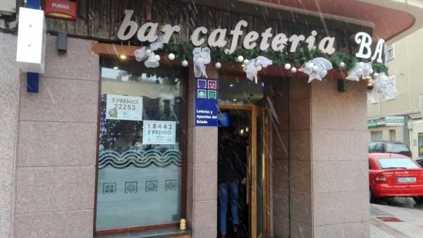 Burgos.- Bar Bárcena, donde se ha vendido el segundo premio