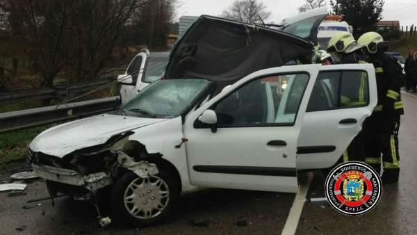Accidente tráfico en Santander