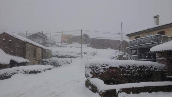 Nieve, necada, temporal