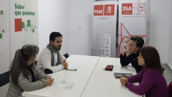 Representantes del grupo municipal socialista de Lanjarón (Granada)
