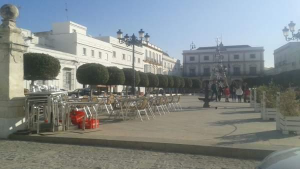 Imagen de la plaza del Ayuntamiento de Medina Sidonia