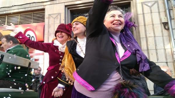 Libertad, Igualdad y Fraternidad al inicio del desfile
