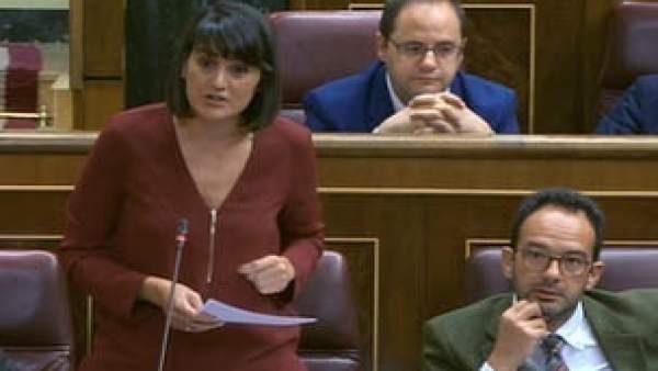 María González Veracruz PSOE en el Congreso pregunta sobre soterramiento